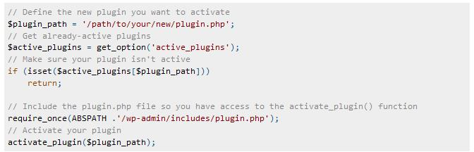 WordPress Interview Questions - Activate Plugins