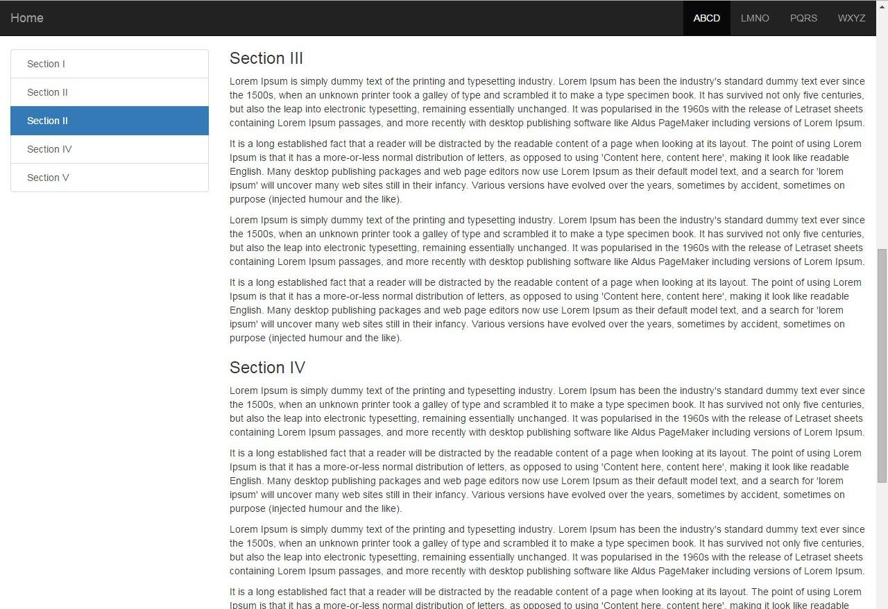 Bootstrap 3 sidebar nav fixed - responsive affix full example