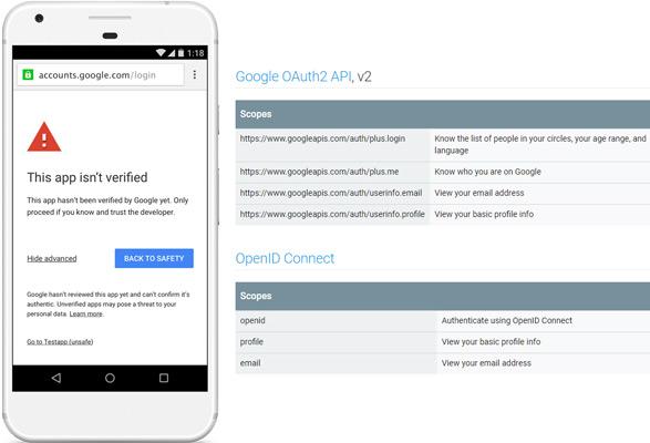 This App isn't verified - Google OAuth Client Verification