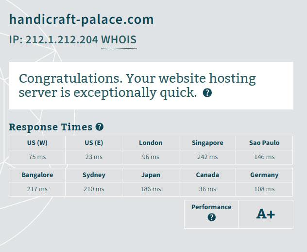 Hostinger Web Hosting Speed