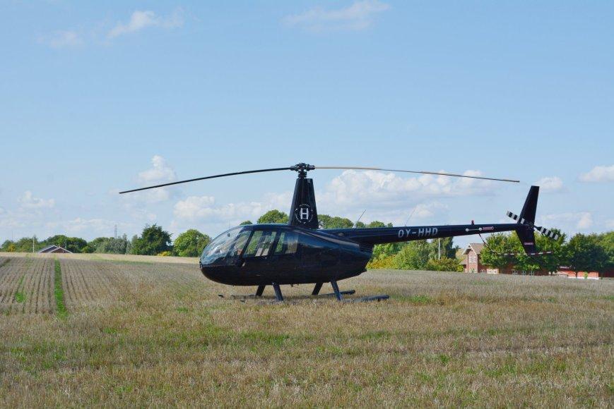 Og man kunne naturligvis komme op i helikopteren. Foto: Karin Munk