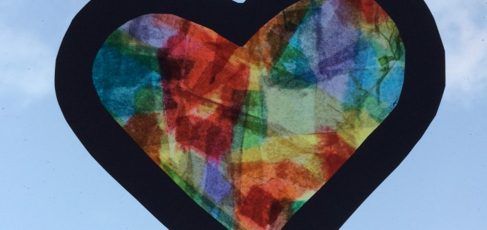 valentines heart jim dine stained glass