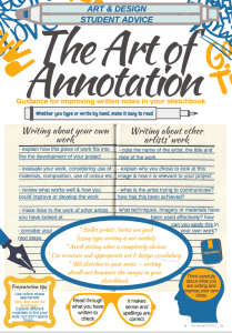 GCSE and A level guidance on annotation