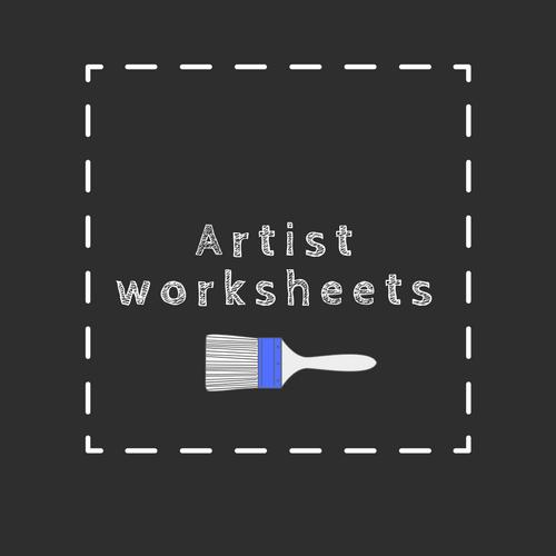 downloadable artist worksheets