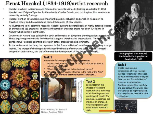 Haeckel artist research