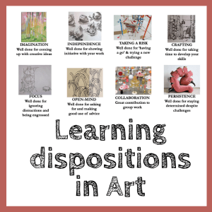 Art learning dispositions