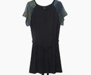 Black raglan sleeve dress