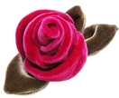 Fuscia Rose Velvet Brooch