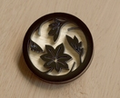 Black autumn leaves brooch
