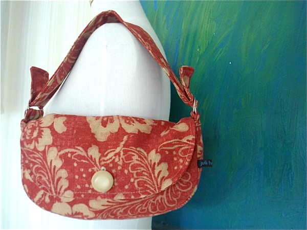Nana' Bag-red Linen Felt