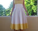 1950's inspired white and gingham pinup dress - custom made to fit