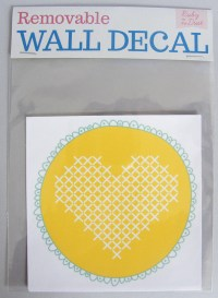 Wall decal: Cross-stitch heart | Felt