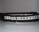 Cool buttons dog collar