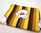 Yellow and brown floral zip purse