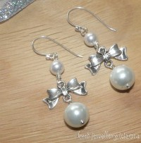 * Gorgeous White Swarovski Crystal Glass Pearl Drop ...
