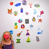 Alphabet wall decal  small