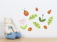 Ladybirds wall decal  small