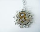 Vintage watch movement in filigree Silver - Steampunk Inspired timeless relic