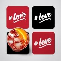 # Love Coaster Set - Set of 4 Coasters, Drink Coaster, Mug ...