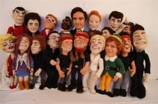 Felt Alive Needle Felted Wool Caricature Dolls by Kay Petal
