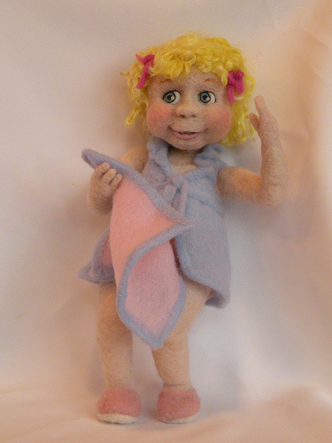 Original Felt Alive Needle Felted Wool Art Doll - Sculptural Needle Felting by Kay Petal