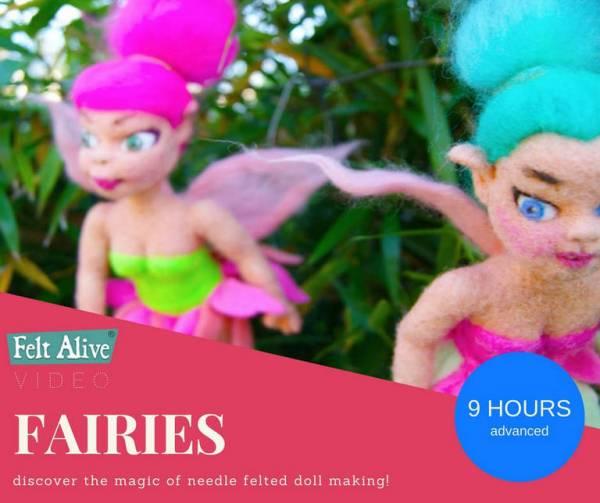 needle felted fairy dolls