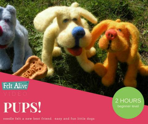 Learn how to make needle felted dogs
