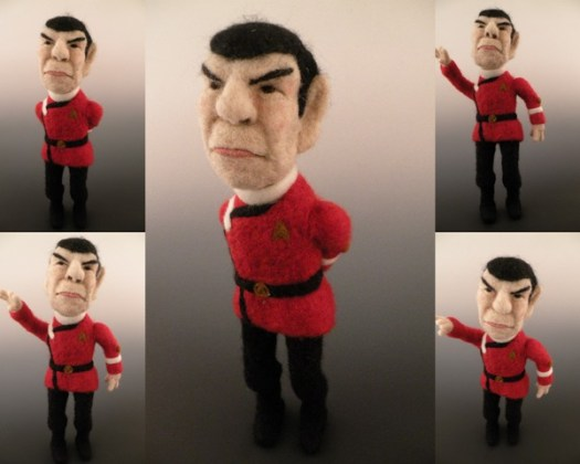 Spock Needle Felted Wool Art Doll - Sculptural Needle Felting by Kay Petal