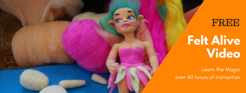 learn how to needle felt dolls with felt alive video - watch online for free or own of DVD