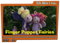 needle felted finger puppet fairies video tutorial