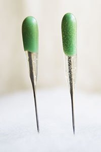 GREEN Reverse SINGLE Point Felting Needles - 2 PACK