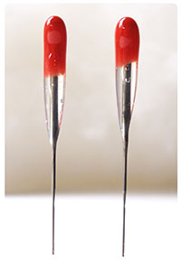 RED Superstar 38 star - SINGLE Point Felting Needles - 2 Pack