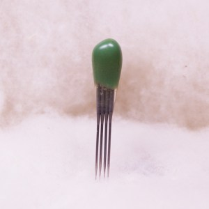 reverse barb felting needle - green quad point