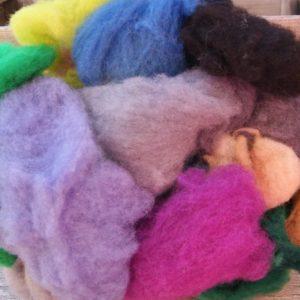 kettle dyed wool batting grab bag