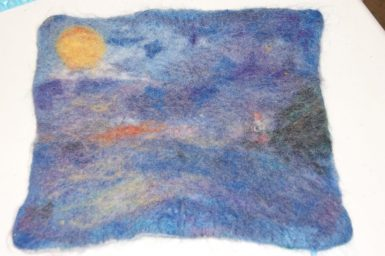 Felting Class - Painting with Wool
