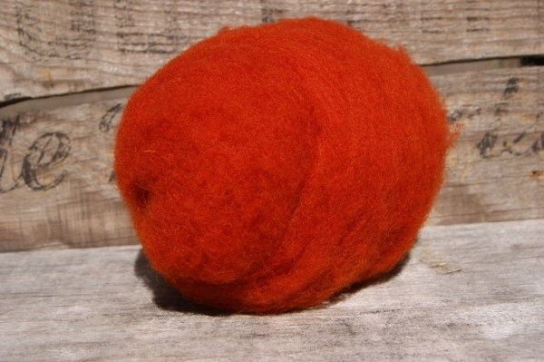 Burnt Orange Needle Felting Wool