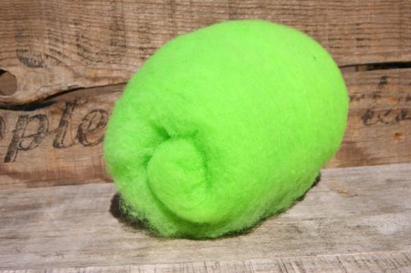 Bright Green Needle Felting Wool