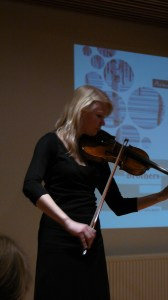 Launch of The Brothers, The Finnish Institute in London, February 2012; Kreeta-Julia Heikkilä plays violin