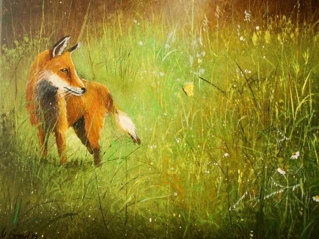 mein kleiner Fuchs, gemalt von Ulla Genzel (BFL)