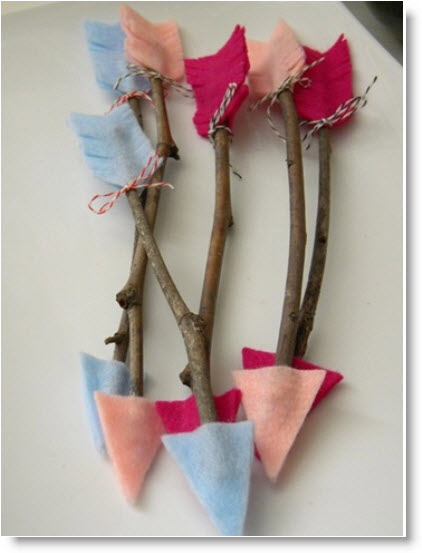 valentine twig Cupid's arrows