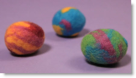 Video Felted Eggs