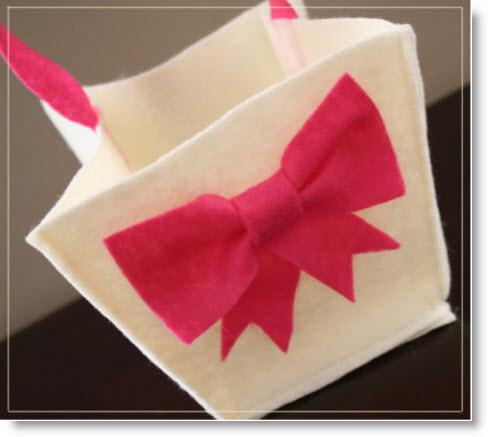 felt gift bag