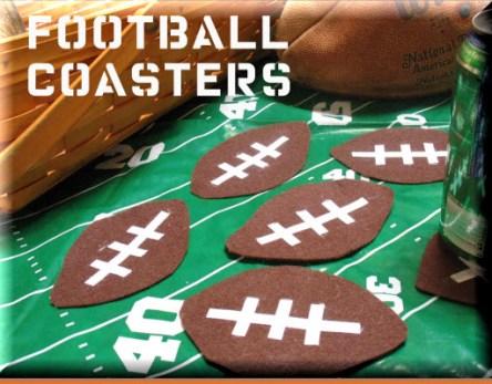 Felt Football Coasters