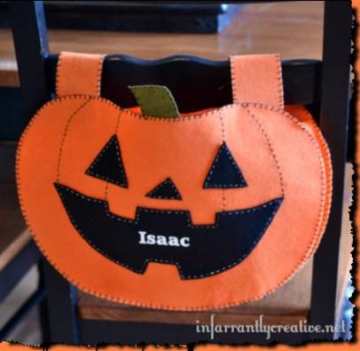 Felt Halloween Chair Backer