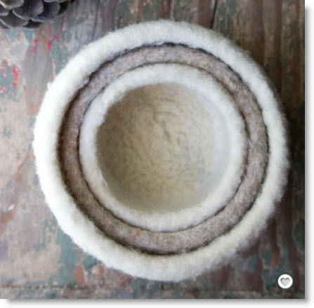 Felted Knit Nesting Bowls