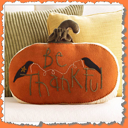 Felted Wool Pumpkin Pillow