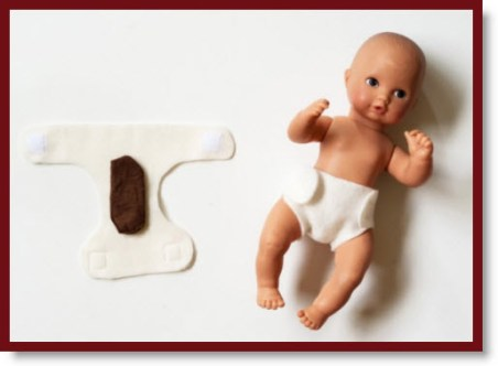 Baby Doll Diaper (with fabric poo)