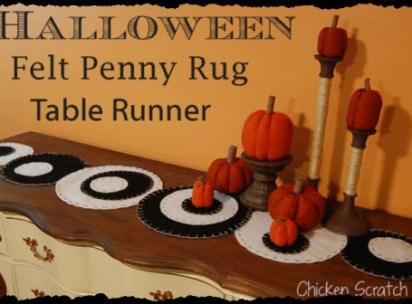 "Halloween ""Penny Rug"""