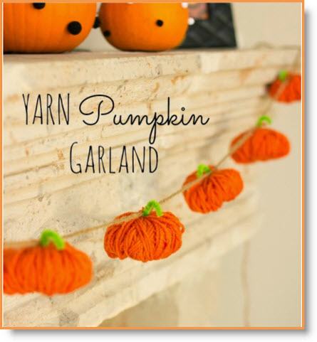 Yarn Pumpkin Garland2