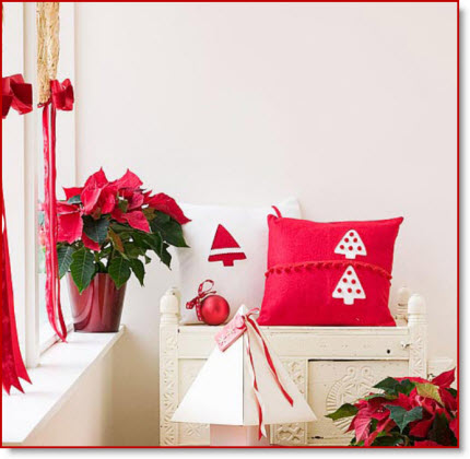 Red & White Pillows